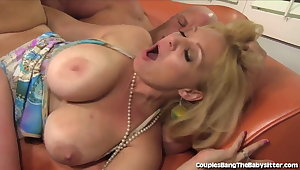 Super Cute Babysitter Seduced and Fucked By Horny Couple!