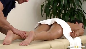 Massage time relative to Johnny Sins and Nikki Daniels