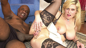 pierced milf aggravation fucked by a black monster cock