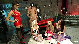 Kiny sex in the BDSM citadel with a lot of cock energized pornstars