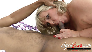 AgedLovE Big Black Cock in British Grown-up Pussy