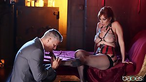 A remarkable hardcore play in a redhead MILF
