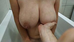 Fat On the level Tits Of A Young Mom