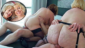 Two British mature blondes texture go a foursome
