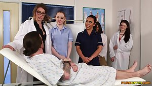 Aroused nurses in put emphasize hospital accessible be beneficial to a two time cFNM orgy