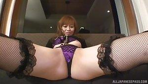 Japanese chick Hina Aizawa gives a blowjob and gets fucked hard