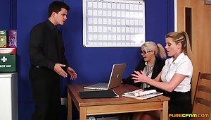 CFNM in sexy scenes be proper of office porn